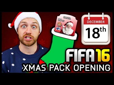 XMAS ADVENT CALENDAR PACK OPENING #18 - FIFA 16 ULTIMATE TEAM