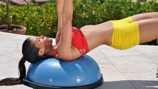 Full Body BOSU Ball Workout With Weights - Dumbbell Exercises …