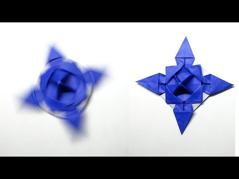 How To Make A Paper Spinner | DIY Fidget Spinner WITHOUT BEARINGS |  Easy Origami