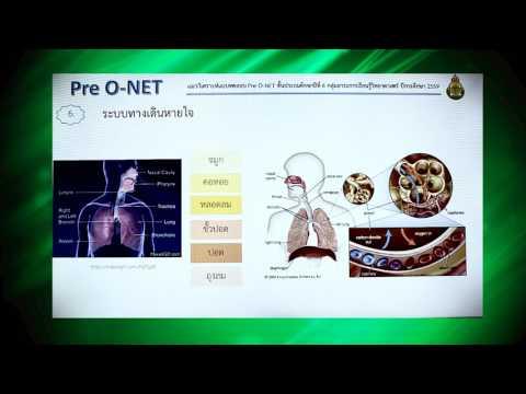 Pre O-NET วิชาวิทยาศาสตร์  (ป.6 ปีการศึกษา 2559)