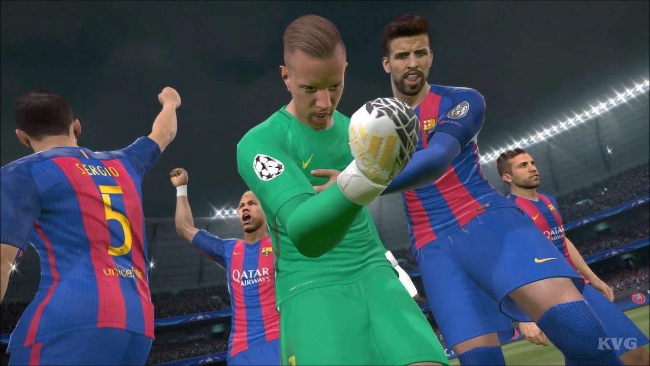 PES 2017 - UEFA Champions League - FC Barcelona vs PSG ...