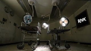 ABANDONED APOCALYPTIC HOSPITAL CORRIDOR WITH LIGHTS ON!