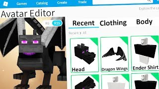 MAKING MINECRAFT ENDER DRAGON a ROBLOX ACCOUNT