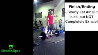When to breathe in the Olympic Lifts - Tuesday Tip