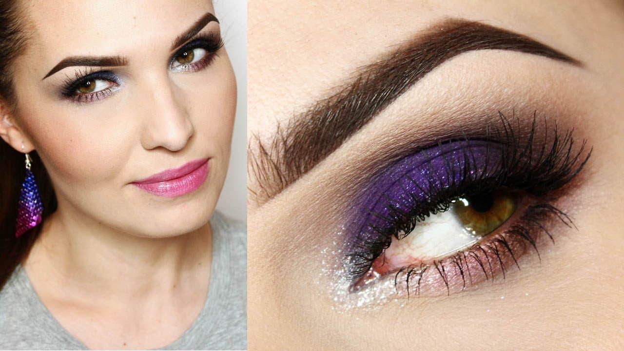 Makijaż Wieczorowy Dla Zielonych I Niebieskich Oczu Fiolet I Róż