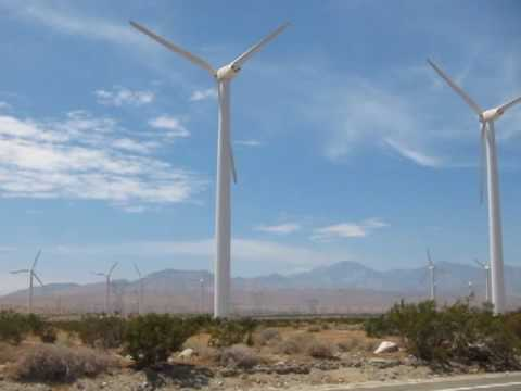 Windmill Wind Farms in North Palm Springs / Desert Hot Springs, San Bernardino County, California