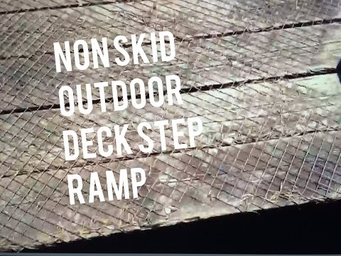 Non Skid Step Stair Deck Ramp Outdoor Material, Wire Mesh Stapled