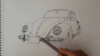 KARAKALEM Vosvos  Pencildrawing vosvos car