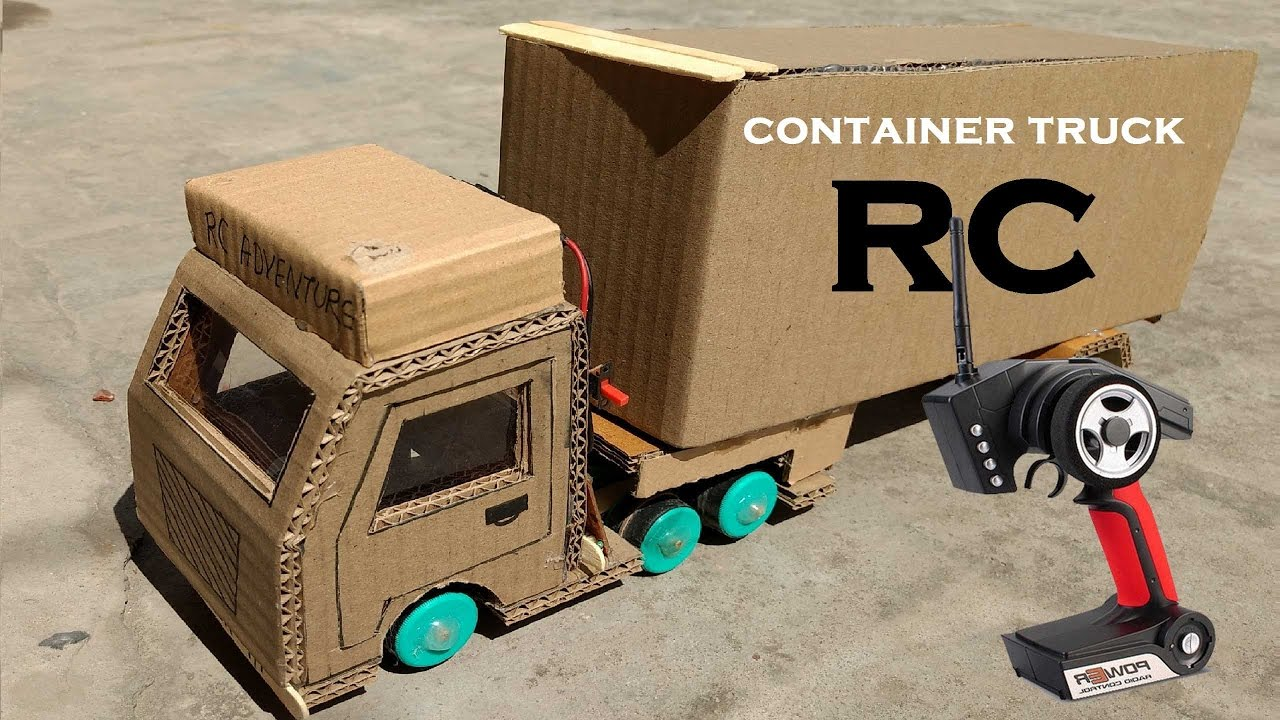 Amazing RC Container Truck DIY At Home   Remote Control ContainerTruck