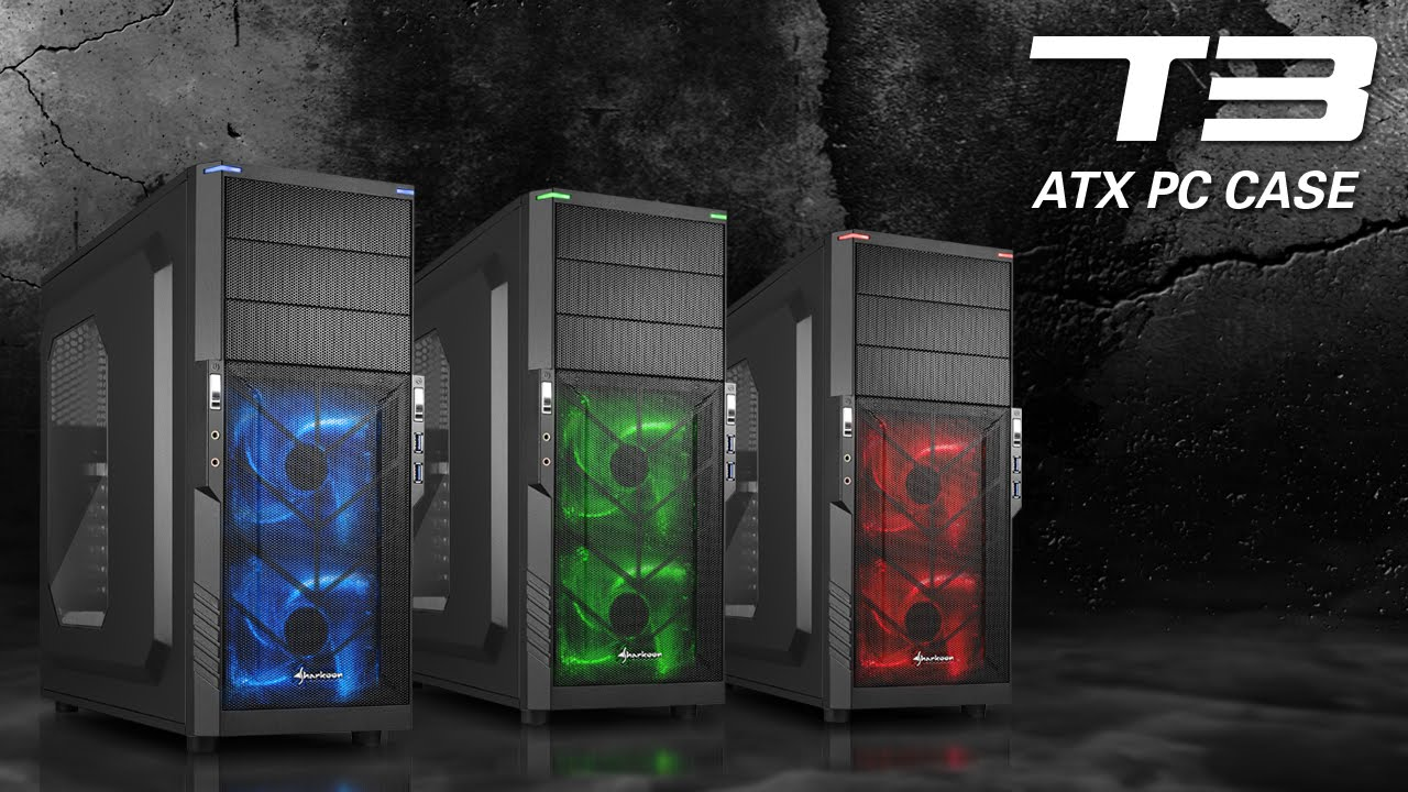 Sharkoon T3 Atx Case Series Jp Youtube