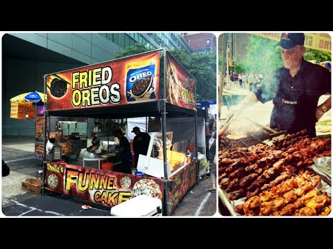 Street Food Market In New York City 2017 Youtube