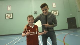 When Max met Coutinho: 'Best day ever!' | Pure Liverpool FC