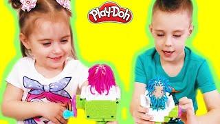 Play Doh-Н-Базз вирізати нечіткі насос перукарня іграшка з електричного зумера грати зі щасливою дитячою зоною