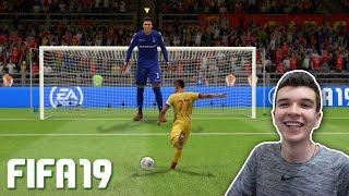 QUE APELÃO!!! TENTANDO JOGAR COM O MAIOR JOGADOR POSSÍVEL DO FIFA 19!!!