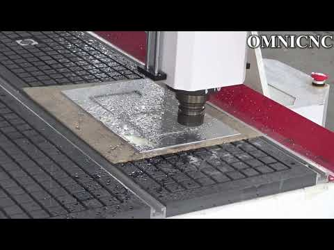OMNI CNC Router Vacuum pump hold on the aluminum