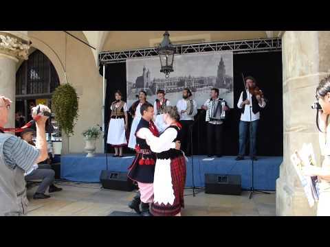Traditional Polish Music in Krakow's Rynek Główny