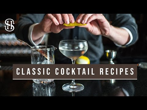 Classic Cocktails For New Year's Eve   Martini, Rob Roy, Highball   NYE Cocktail Recipes