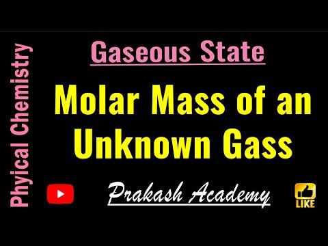 Calculating molar mass of gas