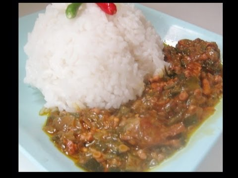 Image result for rice and okro soup