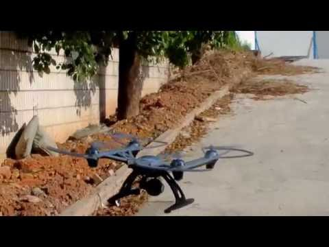 jxd 506V White Big Size RC Quadcopter can Carry Gopro easy Flying test