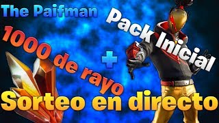 🔴 FREE INITIAL PACK DRAW + 1000 RAYO SOL🔴💥 FORTNITE Live Draw SAVE THE WORLD💥