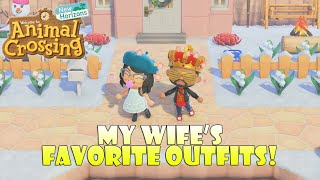 My Wife's Favorite Outfits in Animal Crossing! | Animal Crossing New Horizons