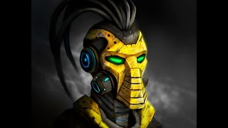 COMO PINTAR DIGITALMENTE A CYRAX/HOW TO DIGITALLY PAINT TO CYRAX