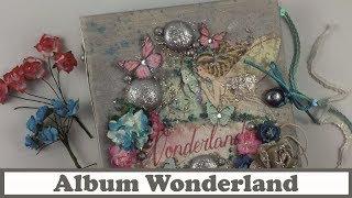 Tutorial Scrapbooking: Album Wonderland, con La tienda de las manualidades