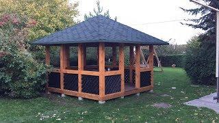 як зробити дах для альтанки з дерева