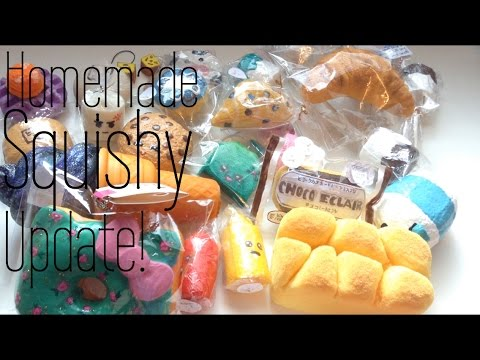 Homemade Squishy Collection 2016 : Homemade Squishy COLLECTION-UPDATE #10! - YouTube