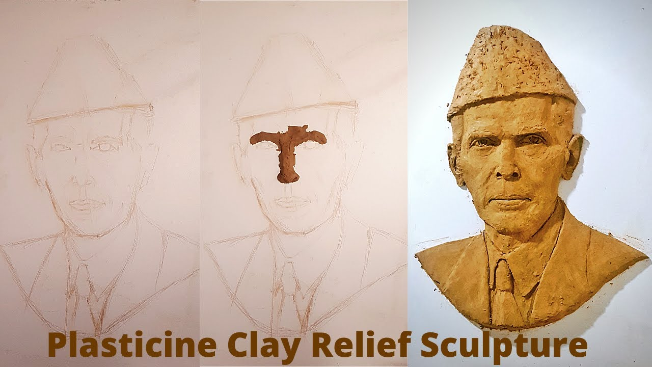 How to make a plasticine Clay  Relief Sculpture