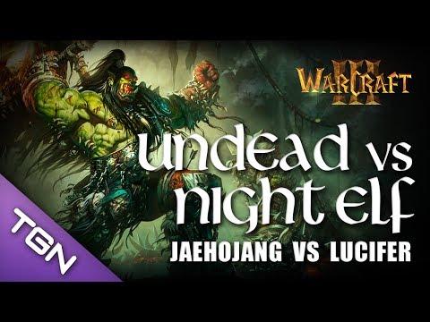 Warcraft 3 - Moon (Night Elf) vs Lucifer (Undead) - Ancient Isles