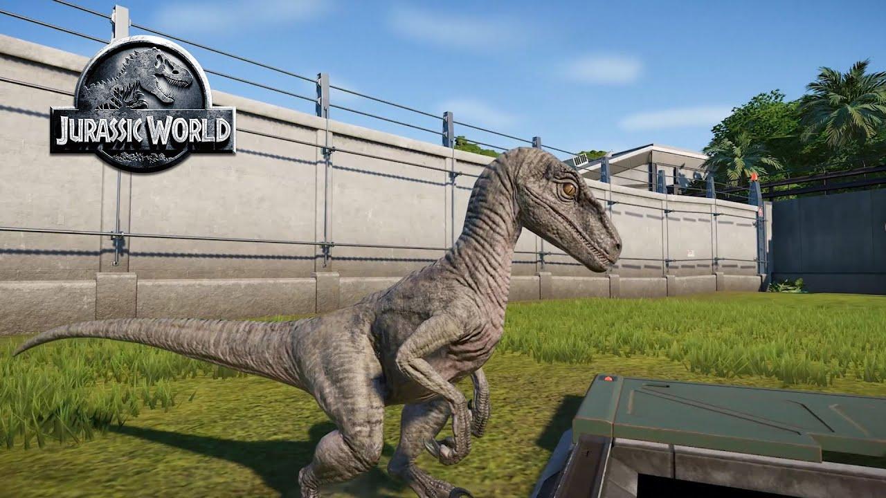 Escape of Velociraptor Jurassic World Evolution