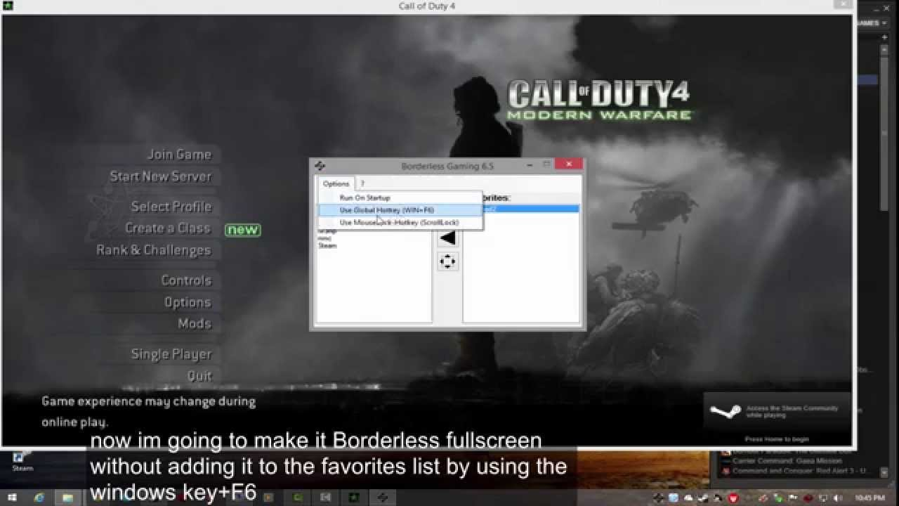 How To Play All Pc Games In Borderless Fullscreen Or Borderless