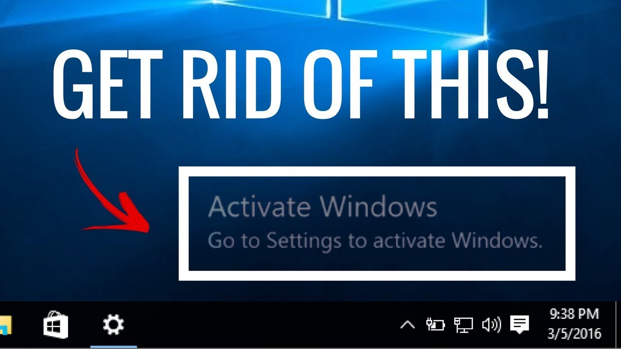 activate windows message keeps popping up