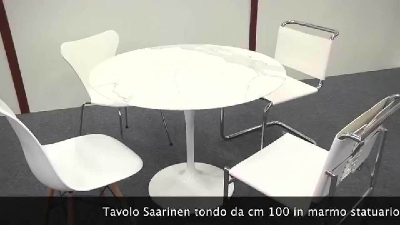 Tavolo Saarinen Marmo : Tavolo saarinen tondo con sedie youtube