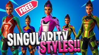 *NEW* Fortnite: 5 Selectable Styles For Singularity Skin Season 9 (Secret Skin Colors)