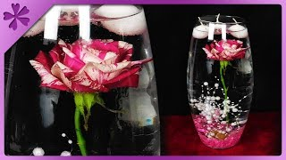 DIY Underwater rose, table decoration in vase, wedding centerpiece (ENG Subtitles) - Speed up #563