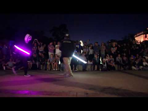 Underground Lightsaber Fighters in San Diego SDCC 2017