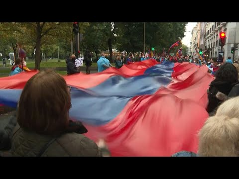 AFP Español: Manifestación armenia en Madrid pide la paz en Nagorno Karabaj | AFP