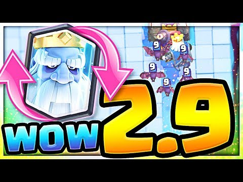 The *NEW* Ghost CYCLE Deck -  2.9 Elixir Royal Ghost Deck   (Molt Clash Royale)