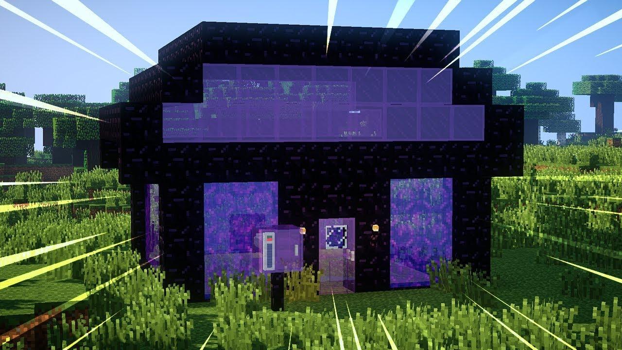 Une maison faite de portail dans minecraft youtube - Portail de maison ...