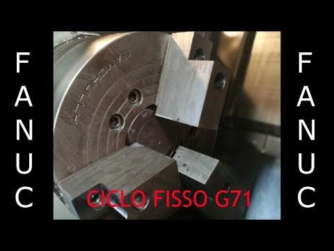 CICLO FISSO DI TORNITURA IN G71 FANUC SERIES I CNC (ITA) E CIMCO EDIT