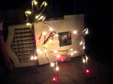Mr Christmas 3D Prancing Reindeer Light Sculpture Lawn Decor ...