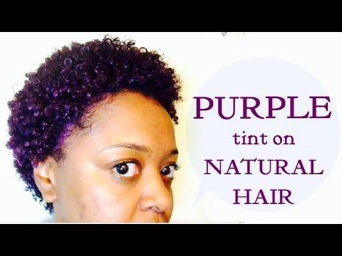 purple rage purple eggplant tint on natural hair