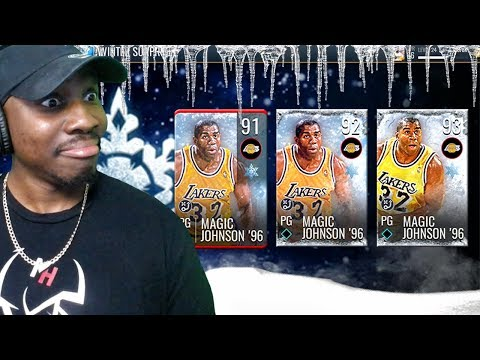 93 OVR WINTER MAGIC JOHNSON PACK OPENING! NBA Live Mobile 19 Season 3 Ep. 26