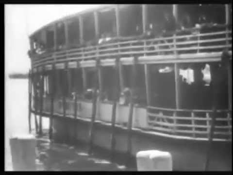 Rare film from 1900 of Immigrants landing at Ellis Island