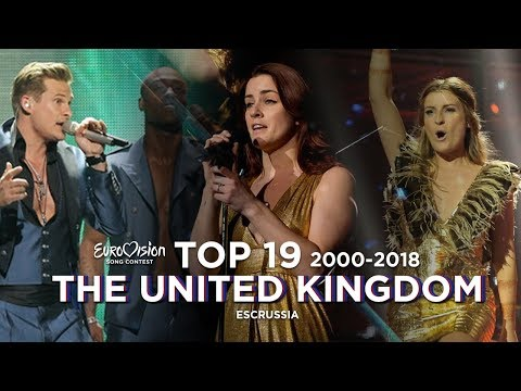 United Kingdom In Eurovision - Top 19 (2000-2018)