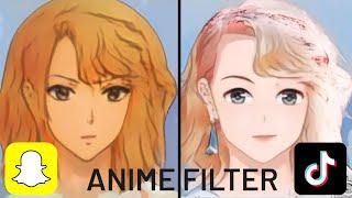 Anime Filter With AI - Snapchat Vs. TikTok