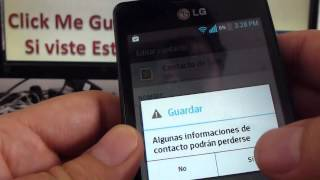 como añadir contacto en whatsapp LG® Optimus L4 comoconfigurar